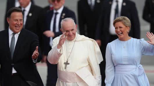 El Papa Francisco ya está en Panamá para la JMJ 2019