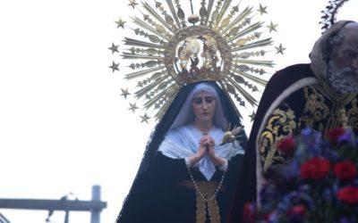 """PROCESIÓN DE VELACIÓN DE LA C. I. DE LA VIRGEN DE SOLEDAD """"REINA DE LA HUMANIDAD"""" DEL TEMPALO DEL SANTÍSIMO NOMBRE JESÚS LA RECOLECCIÓN"""